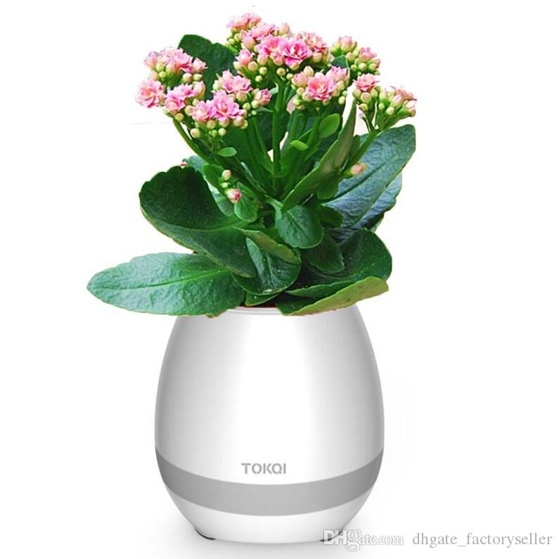 Creative Touch Wireless Bluetooth Flower Pot Mini Subwoofer Speaker with LED Multi Colors Home Music Player LX2292