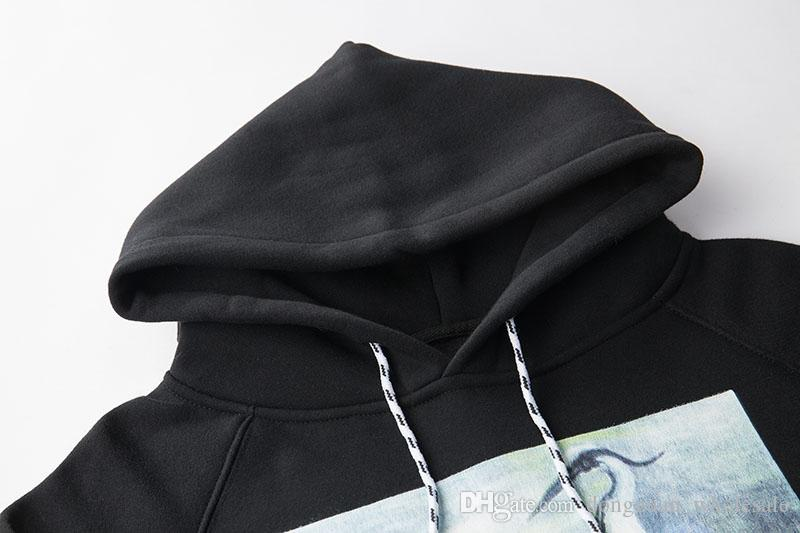 Vinç Baskı Tişörtü Erkekler Kadınlar Hip Hop Heron Preston Hoodies Kazaklar Streetwear Siyah Heron Preston Tişörtü 2018