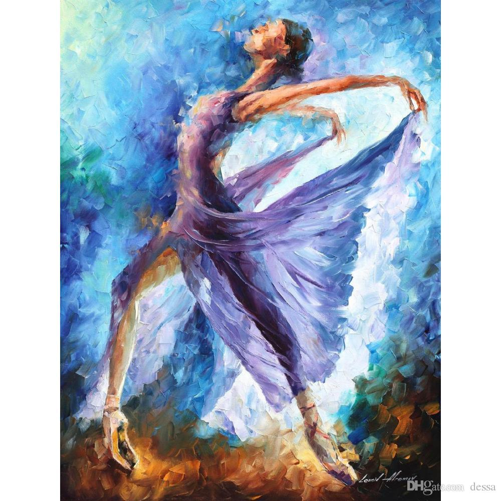2019 hand painted leonid afremov famous oil paintings dance of
