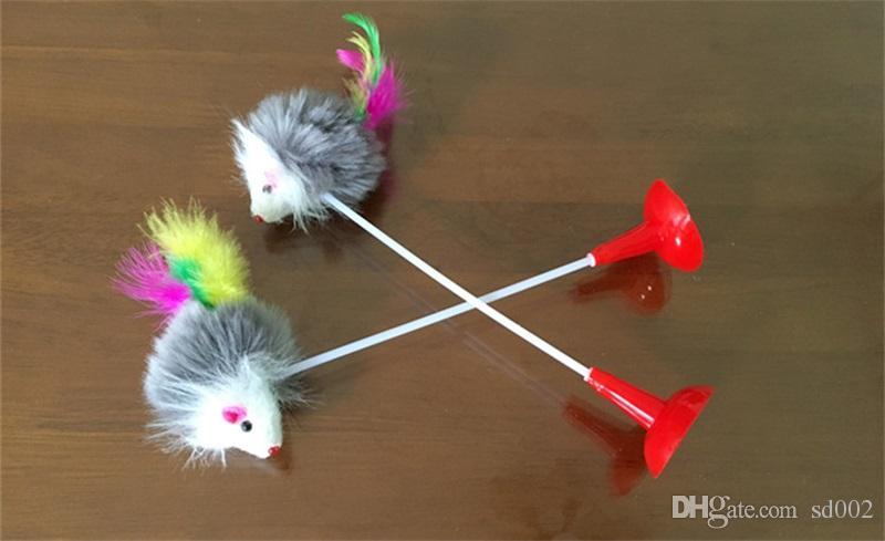 جرو القط لعب مضحك ماوس القاع مصاصة الإثارة لعبة القط الحيوانات الأليفة المقالات متعدد الألوان 1 4wca C R