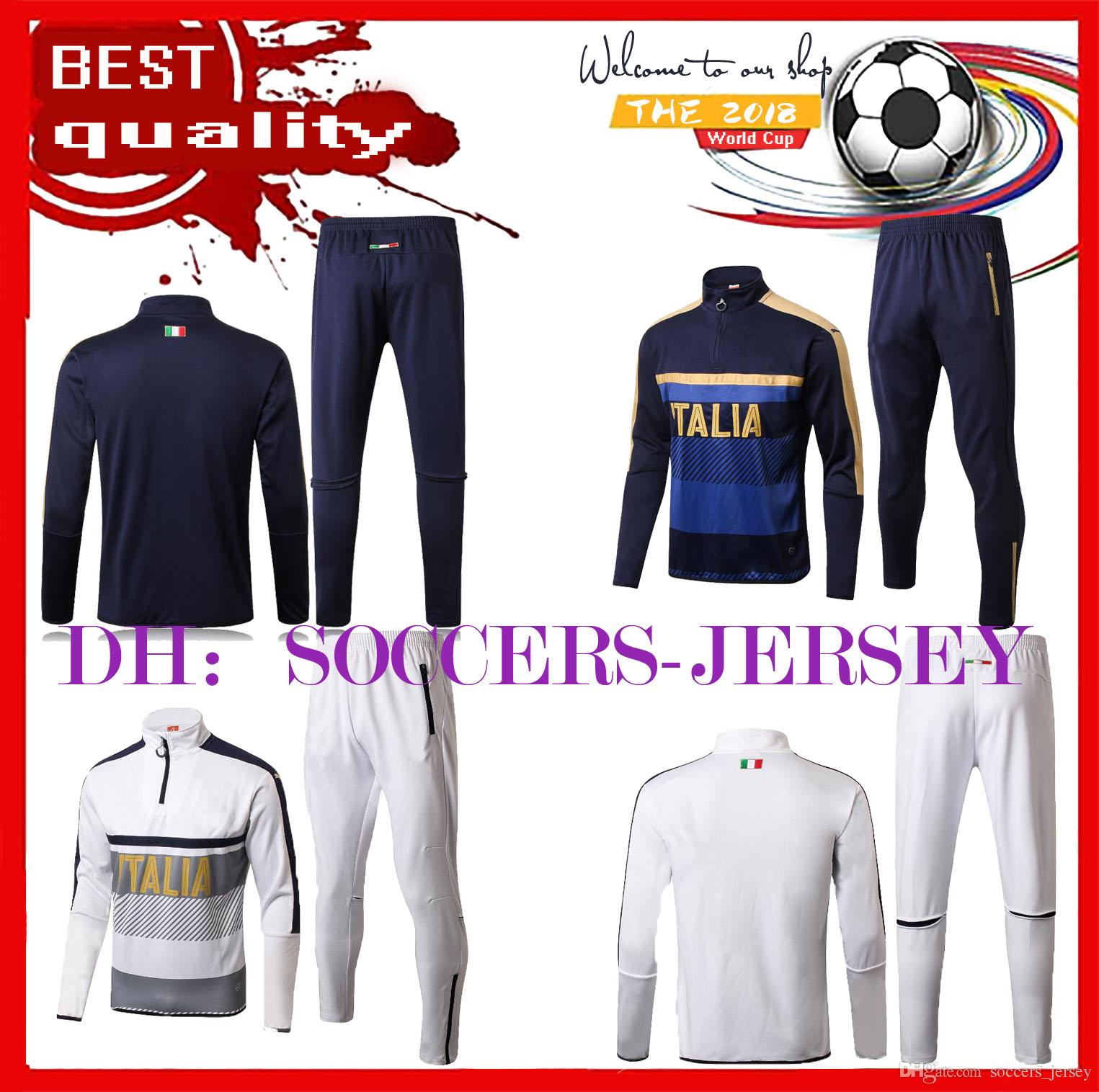 New 17 18 Adult Long-sleeved Jersey Men s Footbal Set Suits Italy ... 24134731e