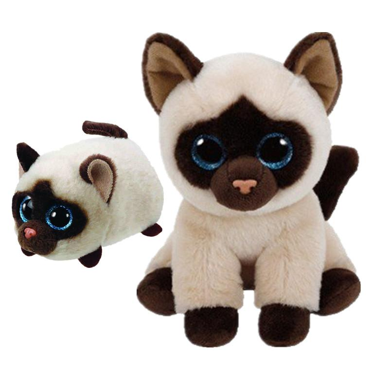 81a0713877d 2019 TY Beanie Boos Teeny Tys Stackable KIMI The Siamese Cat Big Glitter  Eye Collection Plush Stuffed Toys Christmas Gift From Cover3085