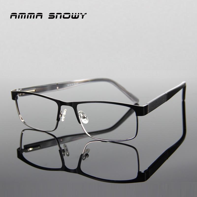 3682d72e21 AMMA SNOWY Grain Square Eyeglasses Frames Optical Eyewear Stainless Steel  Computer Eye Glasses Spectacle Frame For Male AS061-1 Square Eyeglass Frames  ...