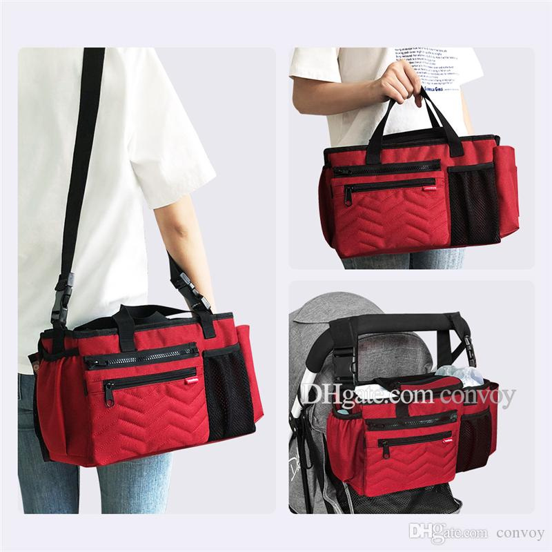 aeb8bf26f 2019 Newest Landuo Mommy Diaper Bag For Baby Stuff Nappy Bag Stroller  Organizer Mommy Travel Hanging Carriage Pram Buggy Cart Bottle Bag MPB36  From Convoy, ...