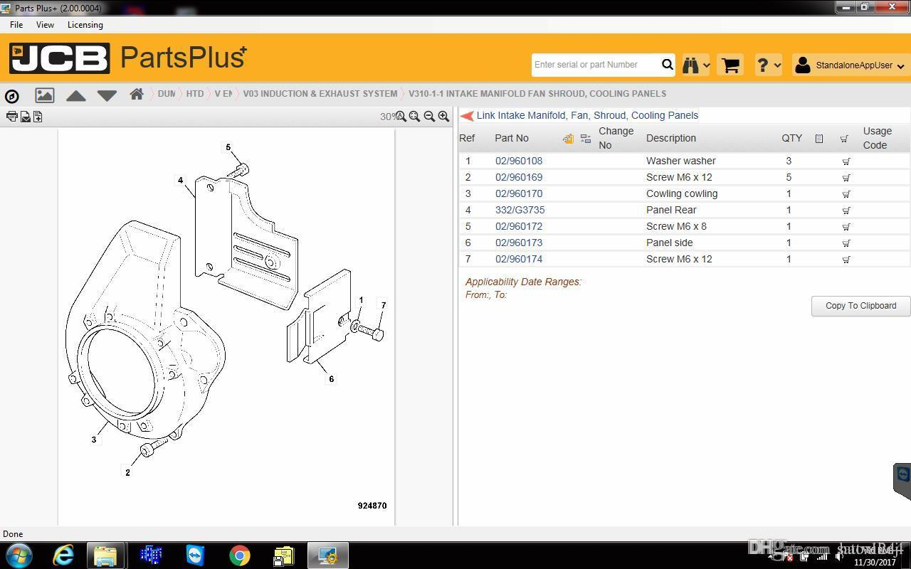 Compre JCB Spare Parts Plus + 2.00 2017 + Manual De Servicio 2017 A $201.01  Del Haoxikeji   DHgate.Com