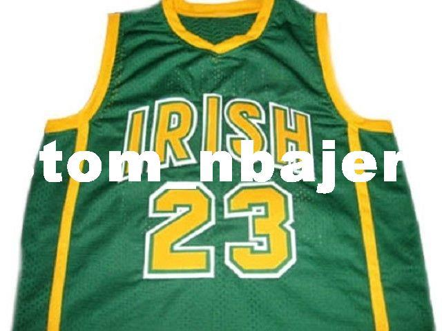 cheap for discount 072cd 25102 wholesale Lebron James #23 Irish High School New Basketball Jersey Green  Stitched Custom any number name MEN WOMEN YOUTH BASKETBALL