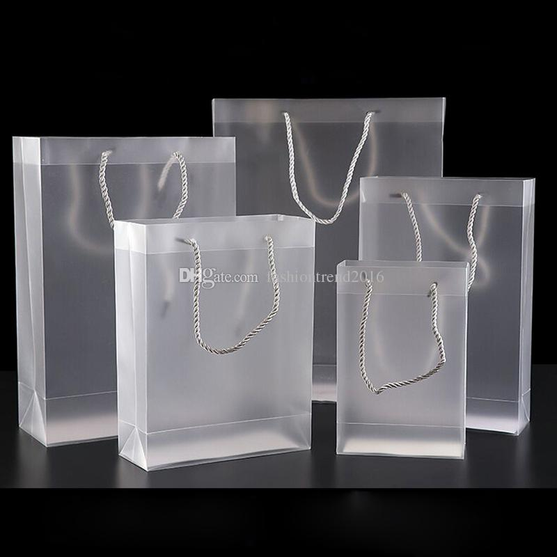 Großhandel Mattierte Transparente PVC Tasche Mit Größen Plastiktaschen Des Griff 7 Für Gastgeschenk Partei Geschenk Paket Von Fashiontrend2016, $0.99 Auf De.Dhgate.Com | Dhgate
