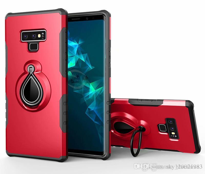 225028b076b39 Compre Cobertura Completa Armadura Invisível Caso De Suporte Para Samsung  Galaxy Note 9 6,4 Caso De Titular De Anel De Dedo Para Samsung Galaxy Note9  6,4 ...