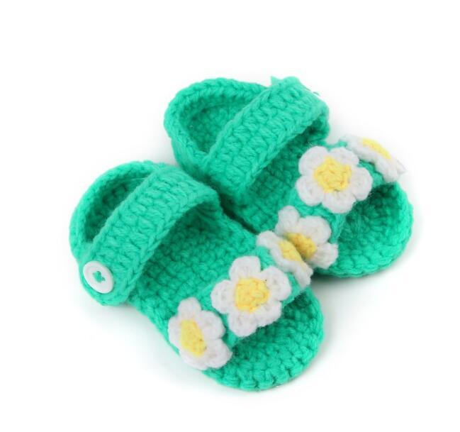 New summer cute baby shoes for newborn baby boy girls knitting handmade baby first walkers infant shoes socks