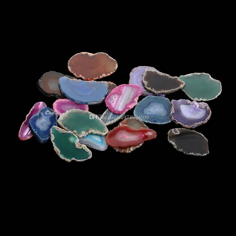 Aléatoire Agate Géode Poli Cristal Tranche Brésil Cristal Ornement Home Decor Nature Coloré Alagate Perle Poli Quartz Aléatoire Couleur