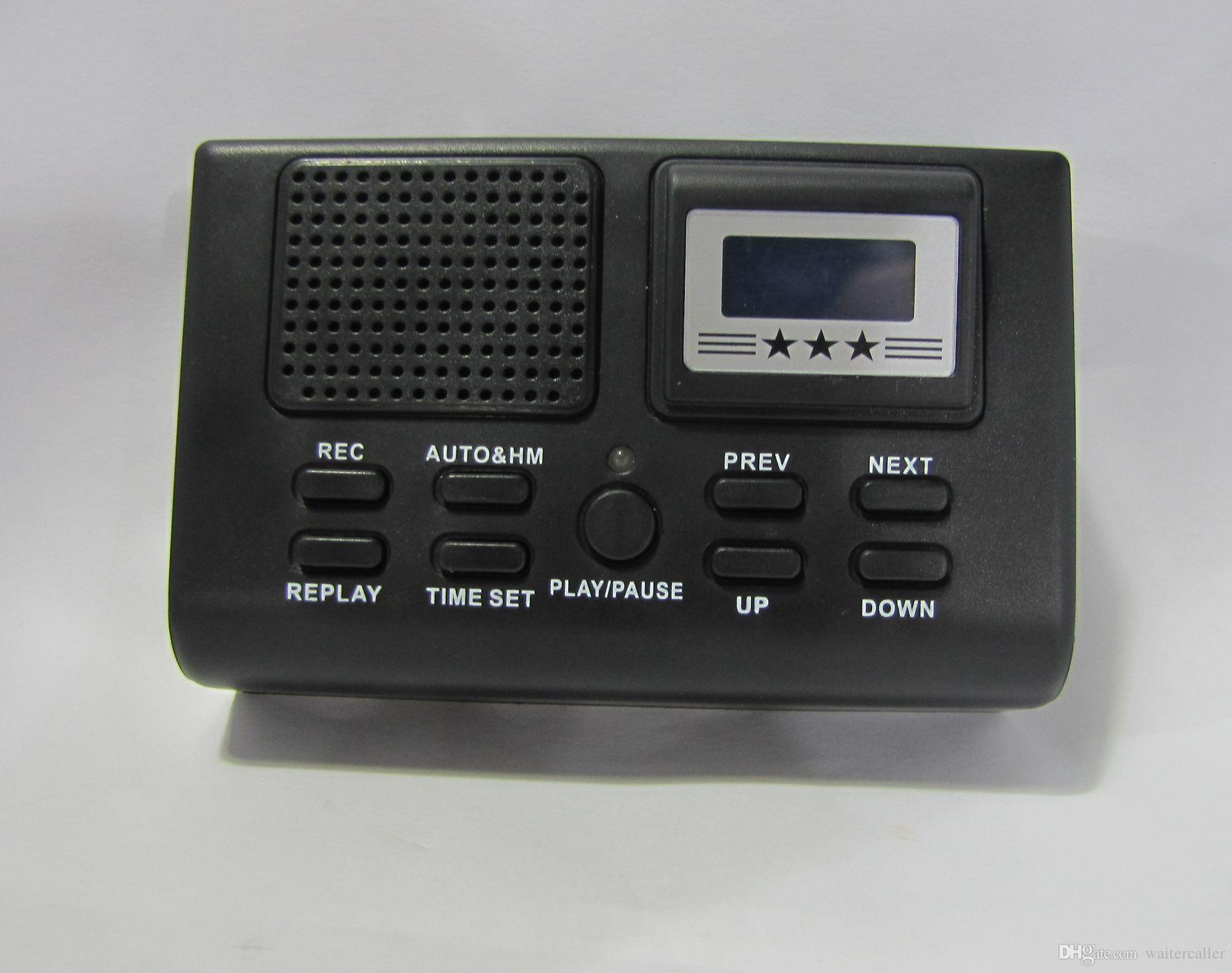 Professional Mini Telephone Recorder Box Digital Voice Recorder Dictaphone Phone Logger MP3 Player LCD Display + Clock Function