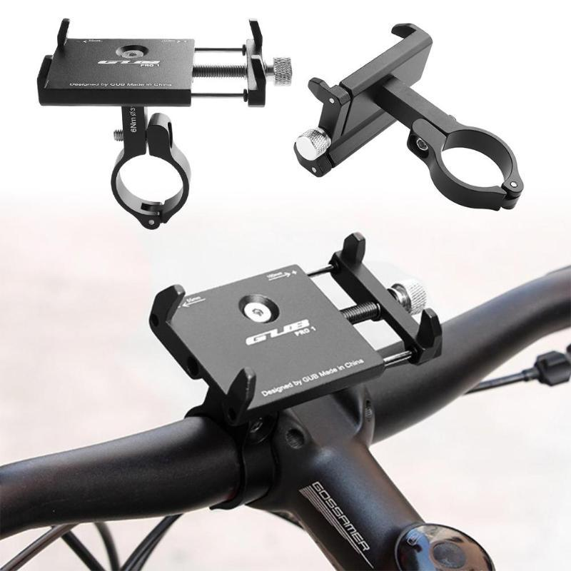 Aluminum Alloy Bike Cell Phone Holder Universal Motorcycle Handlebar Phone Support for 2.17-3.94inch MTB Bicycle Bracket Mount