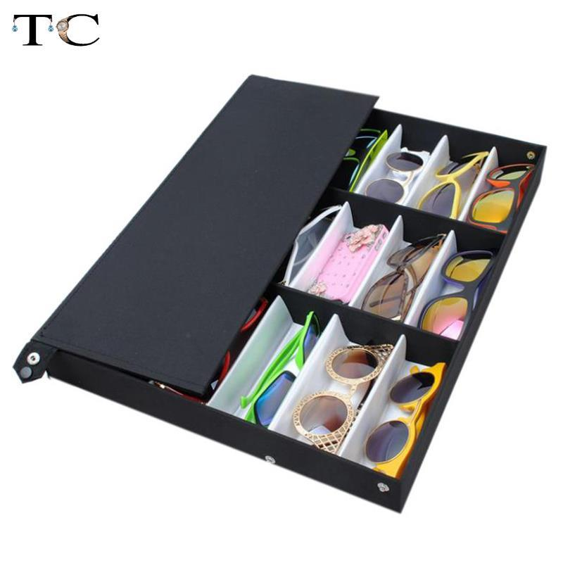 Factory Qutlet 18 Grid For Sunglass Eyewear Jewelry Watches Accessories Display Case Box Tray