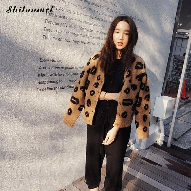e7cb6baef New Top Selling Autumn Woman Sweater Leopard Tops Fashion Knitted ...