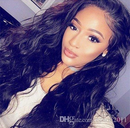 Brazilian Virgin Hair Human Hair 150% Density Lace Human Hair Wigs For Black Women Body Wave Lace Front Wig Glueless Lace Wig 14in