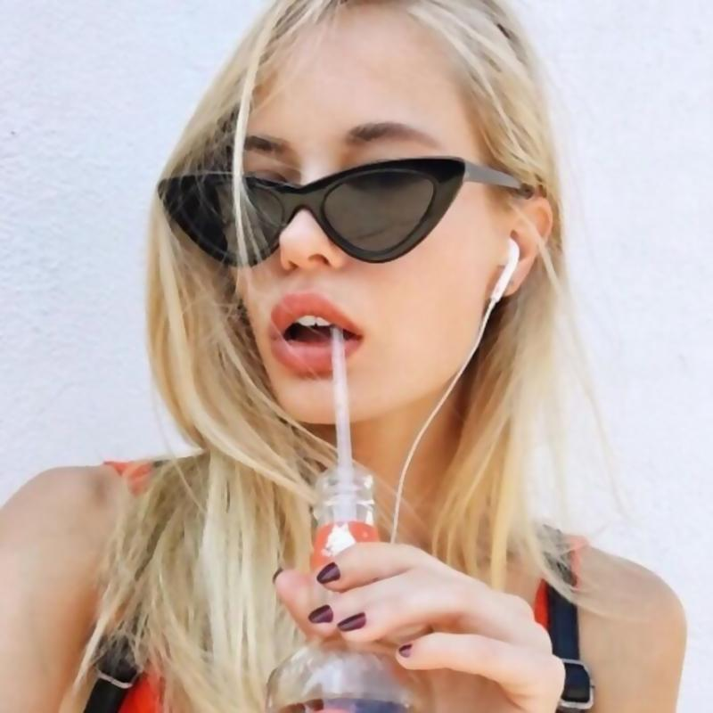 Compre TOYEARN 2018 Nova Moda Bonito Sexy Ladies Cat Eye Óculos De Sol Das  Mulheres Do Vintage Da Marca Pequeno Óculos De Sol Feminino Oculos De Sol  UV400 ... 5cd9933705