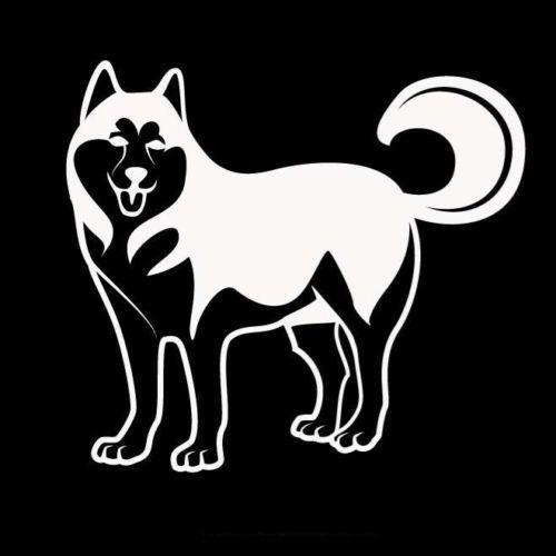 2019 Husky Dog Standing Proud Car Sticker Vinyl Car Packaging Body