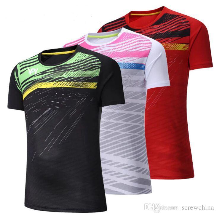 2019 2018 New Male Female Badminton T Shirts 74918cb04