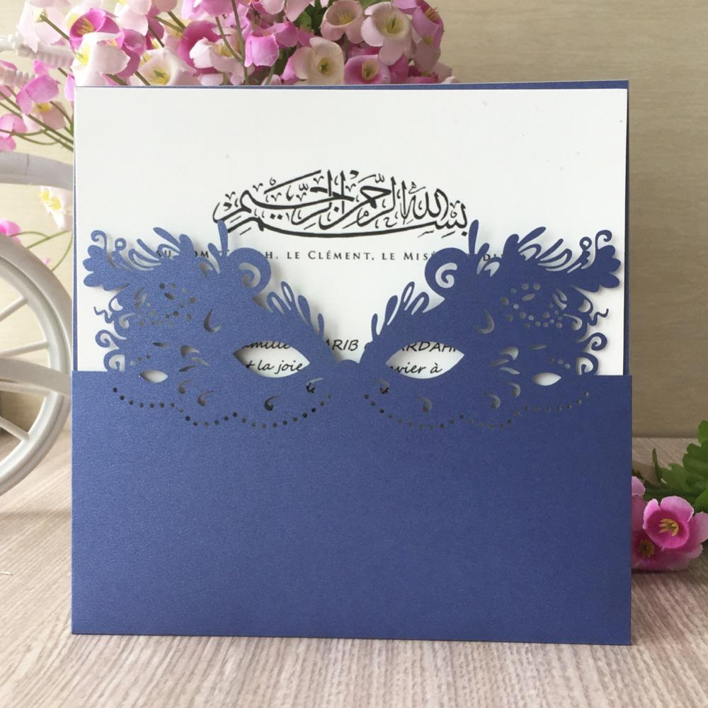 Mask Pattern Design Carnival Theme Laser Cut Pearl Paper Hollow Wedding  Invitations Engagement Wedding Invitation Card Tea Party Invitations  Wedding Cards ... 915ce4c7aa82