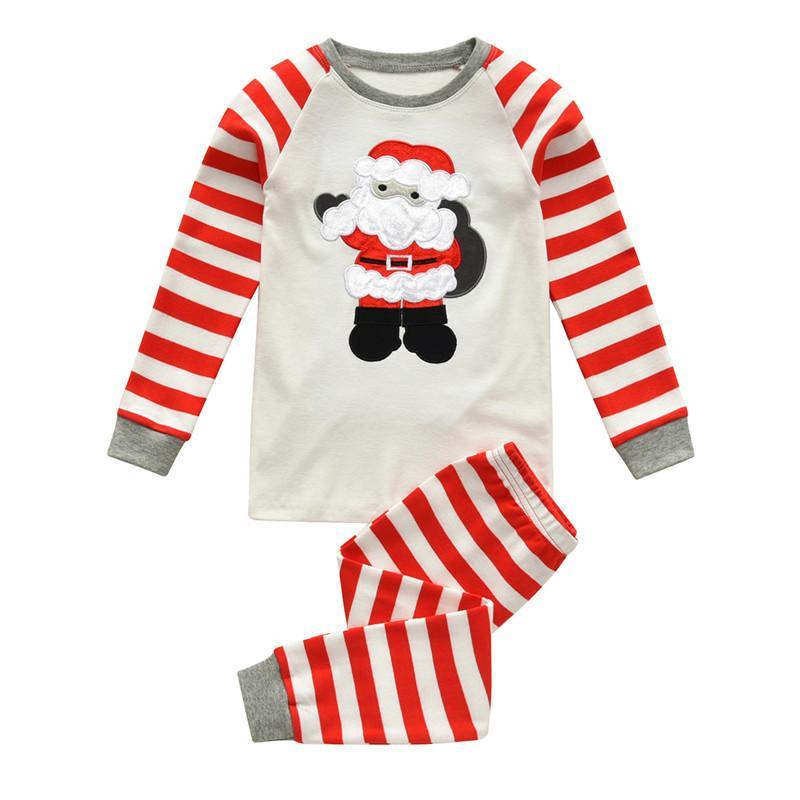 311405865b 2018 Christmas Kids Cotton Pajamas Set Xmas Santa Claus Children Sleepwear  Night Wear Autumn Winter Homewear Outfits 2T-7T Online with  13.28 Piece on  ...