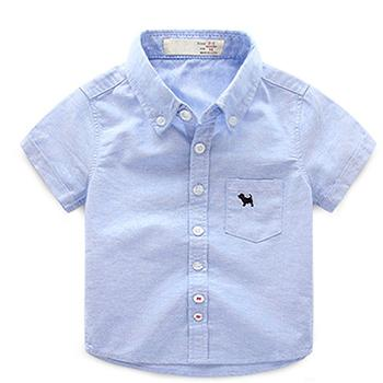 594e5d42 2018 Baby Boys Shirts White Pink Blue Yellow Boy Shirt Short Sleeve School  Shirts For Boys Children's Short-sleeved Shirt