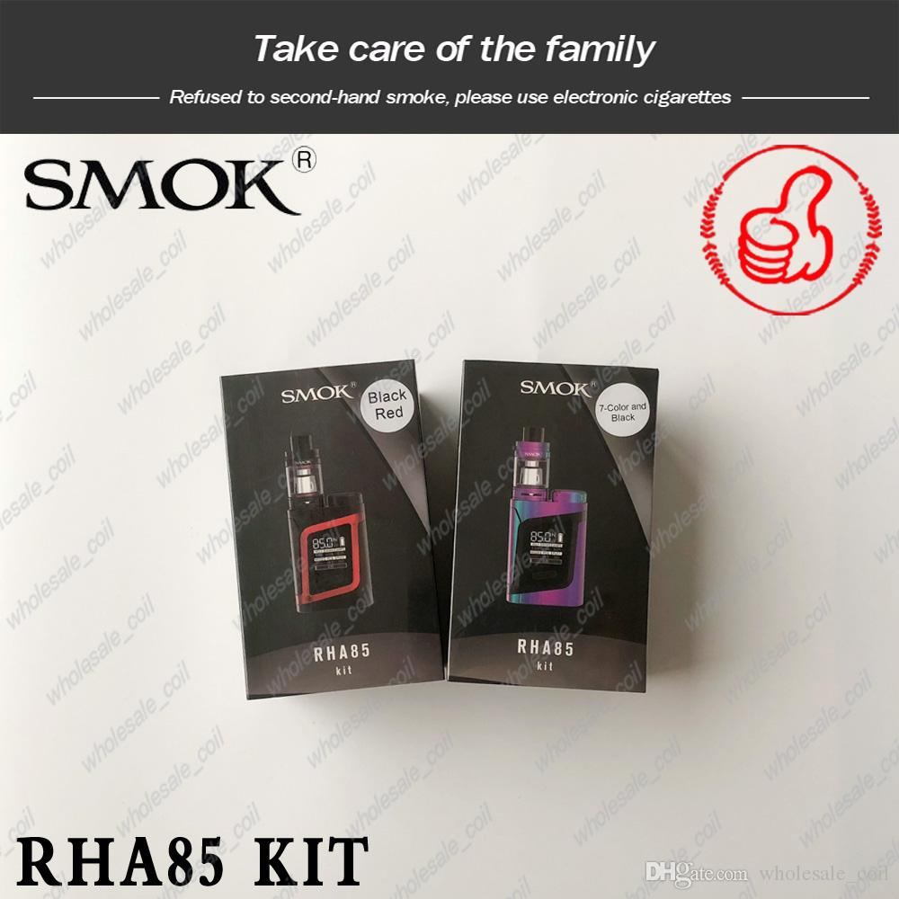 100% Genuine SMOK RHA85 Kit/AL85 Kit With 3ML TFV8 Baby Beast Tank RHA85W Mod OLED Display Screen Alien Baby Kit Adjustable Airflow System