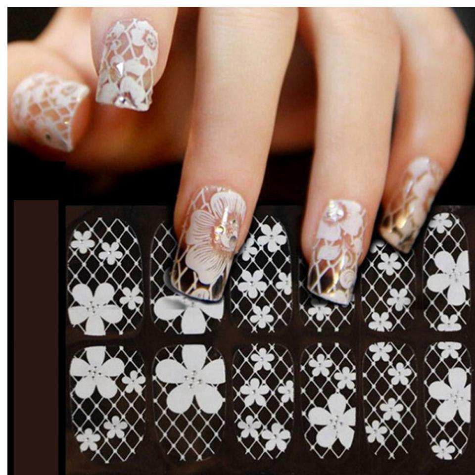 Sliders For Nails 3d Lace Nail Art Wraps Flowers Nail Stickers And