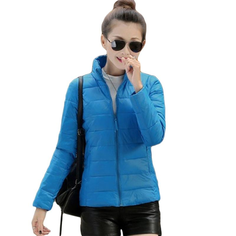 18370aa20bd Women Parkas Fashion Autumn Winter Warm Jackets Women Stand Collar Pockets  Solid Parkas Office Lady Cotton Casual Coat Plus Size UK 2019 From  Bestshirt005