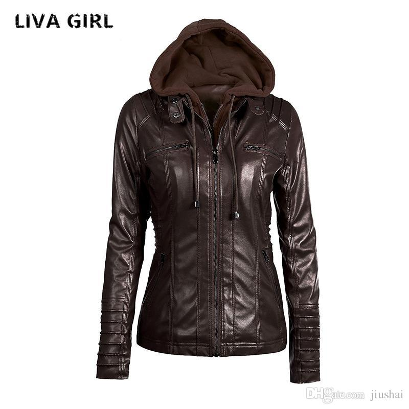 ad53544a7d825 Wholesale- Liva Girl Leather Jacket Women Plus Size 7XL Winter ...