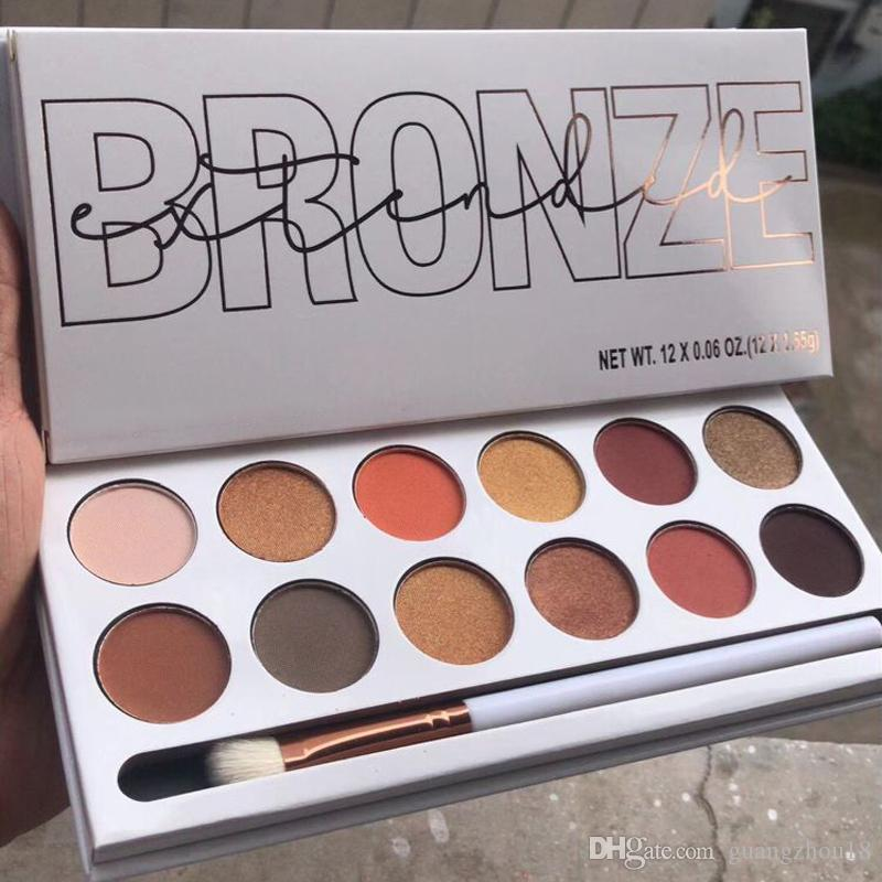 2018 makeup The Bronze Extended Palette 12colors Pressed Powder Eye shadow palette with Brush DHL shipping