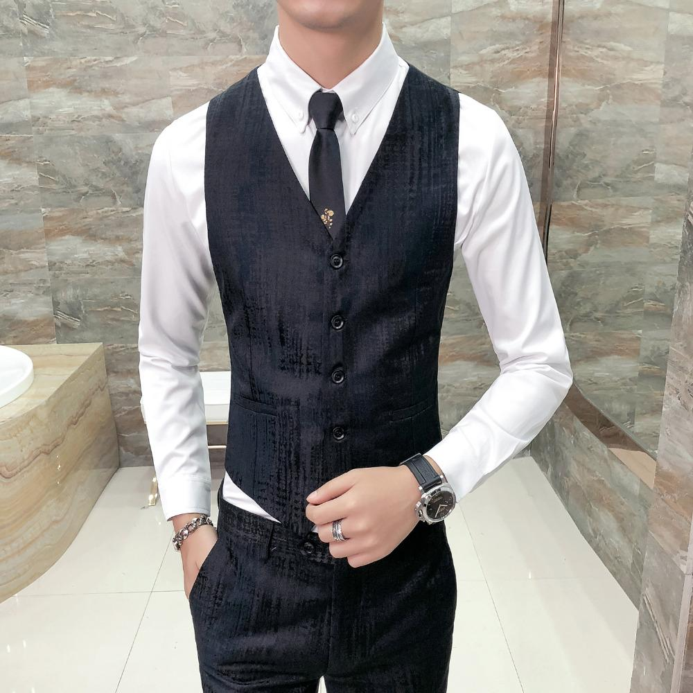 2019 high quality british style vest men fashion 2018 autumn new