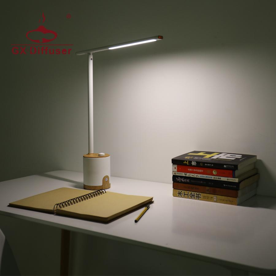GX Diffuser Table Light USB LED Rechargeable Study Desk Lamp Novelt Eye  Protection Push Switch Reading Lights 3 Mode Dimming