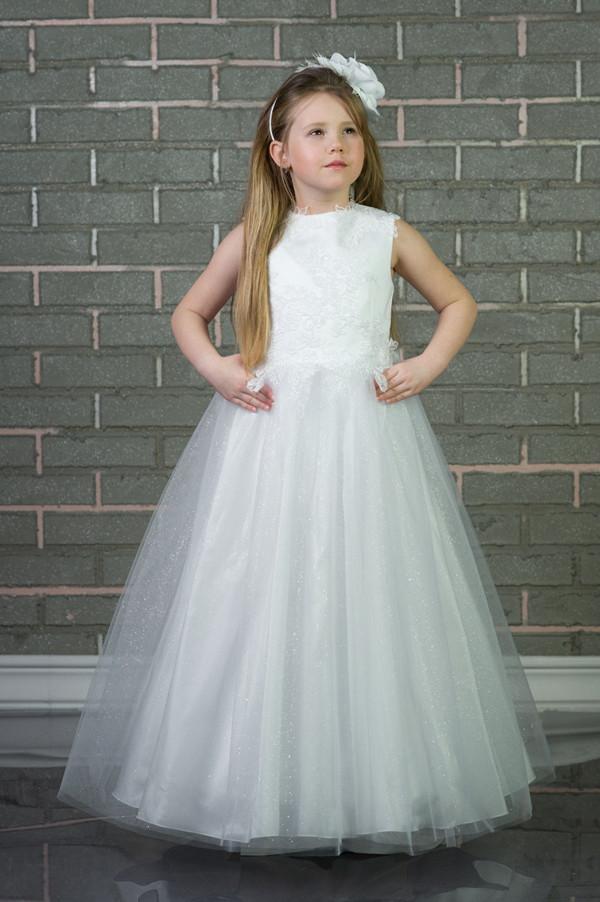adff06385bca Vintage New Arrival GIrls Fashion Kids Gown Flower Girl Dresses For Wedding  Girl S Floor Length Child Party Birthday Dress 17flgB407 Wedding Dress For  Girl ...