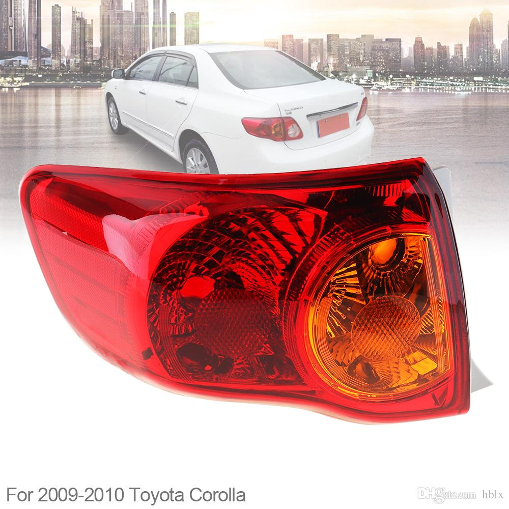 Waterproof Durable Rear Brake Lamps Outer Left Passenger-side Tail Left  Light for 2008 2009 2010 Toyota Corolla CLT_707