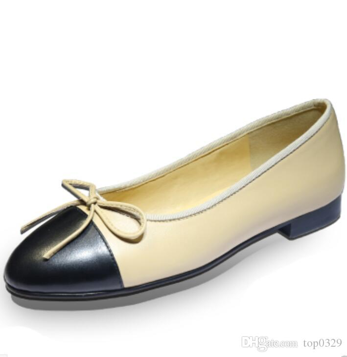 ba9d946b9b04 Women Ballet Flat Luxury Genuine Leather Fashion Brand Soft Simple Cute Flats  Ladies Lambskin Classic Splice Diamond Lattice Casual Flats Purple Shoes ...