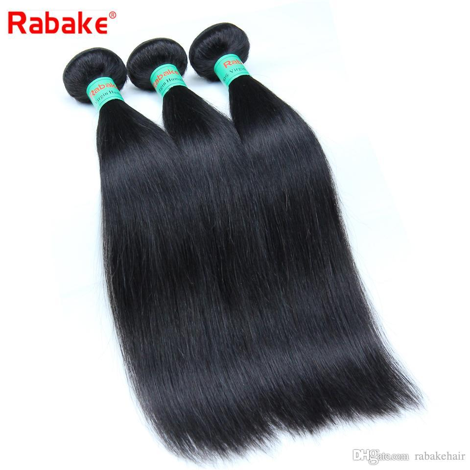 8A Straight Brazilian Virgin Hair Bundles Rabake Unprocessed Mink Brazilian Silky Straight Human Hair Weave Extensions for Black Women