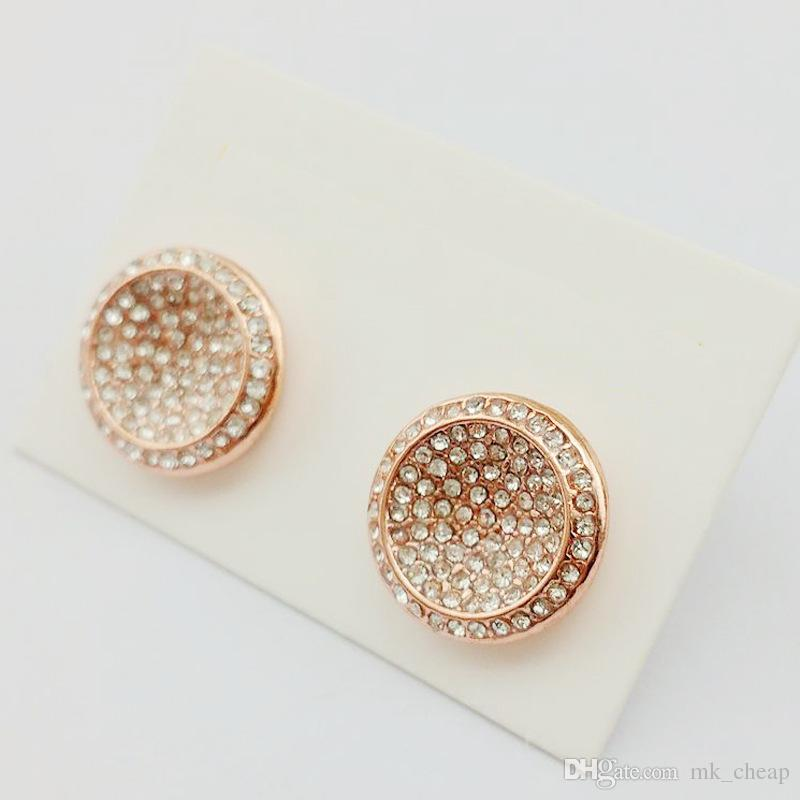 item letter stud yunruo color gold plated for steel girl earring and stainless d c woman rose