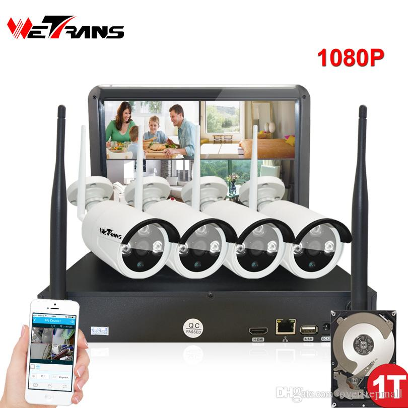 2018 Wireless Security Cameras Home Surveillance System With Monitor ...
