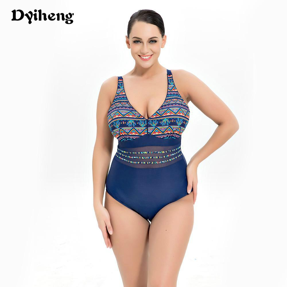 72939af431 2019 Dyiheng Sexy Monokini Super Large Size Swimwear For Women One Piece  Swimsuit Vintage Printed Women S Swimming Suit Push Up From Dyiheng