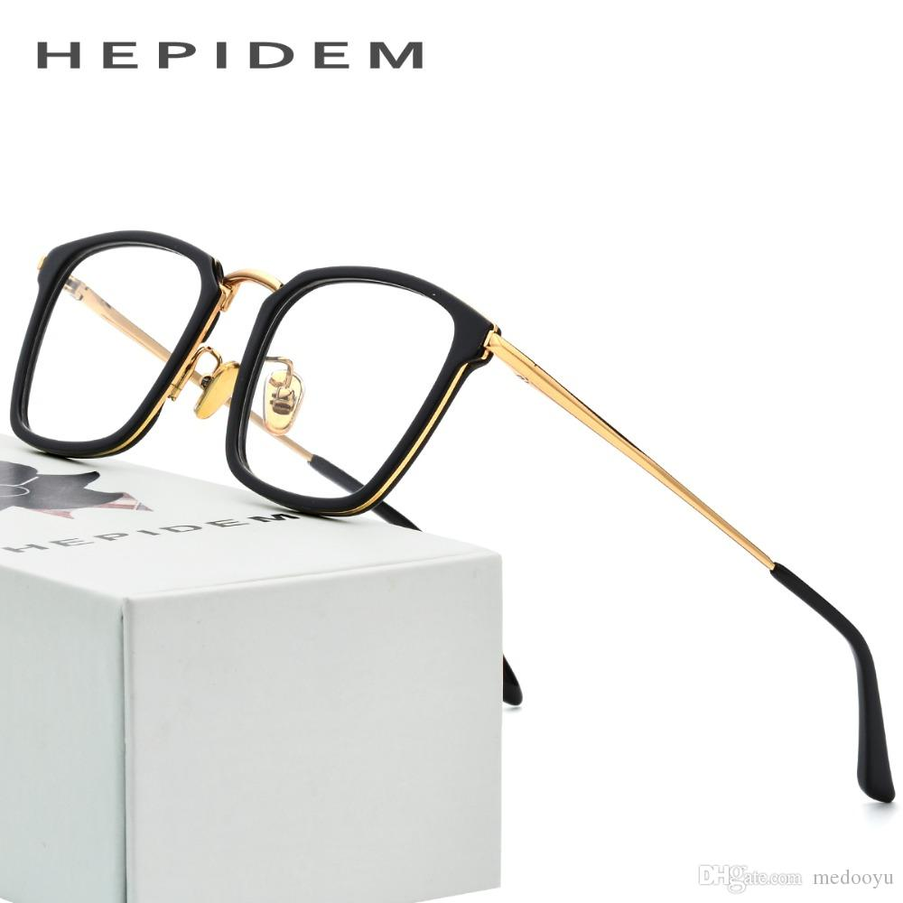 d684a356a2 2019 Acetate Optical Glasses Frame Men Thom Square Prescription Eyeglasses  2018 Women Metal Myopia Spectacles Stainless Steel Eyewear70042 From  Medooyu