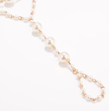 Beach Wedding Ankle Bracelets Fake Pearl Gold Tone Anklet Chain Yoga Dancing Foot Chains Barefoot Beach Sandals
