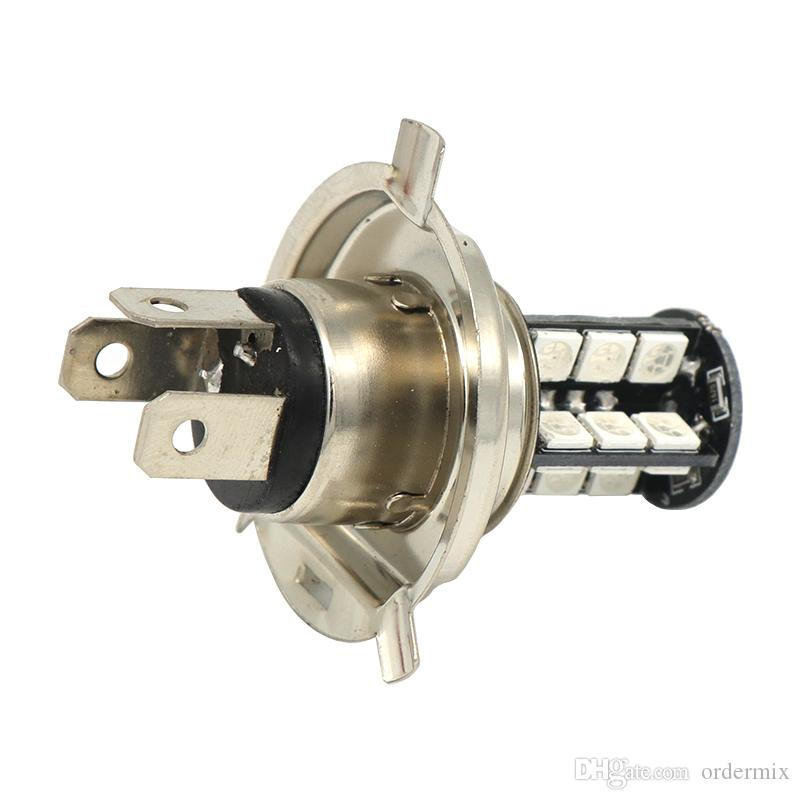 2 unids H1 H3 H4 9005 9006 H11 H7 RGB LED Auto Car Faros 5050 LED 27SMD Strobe Led luz de niebla cabeza lámpara bombilla con control remoto