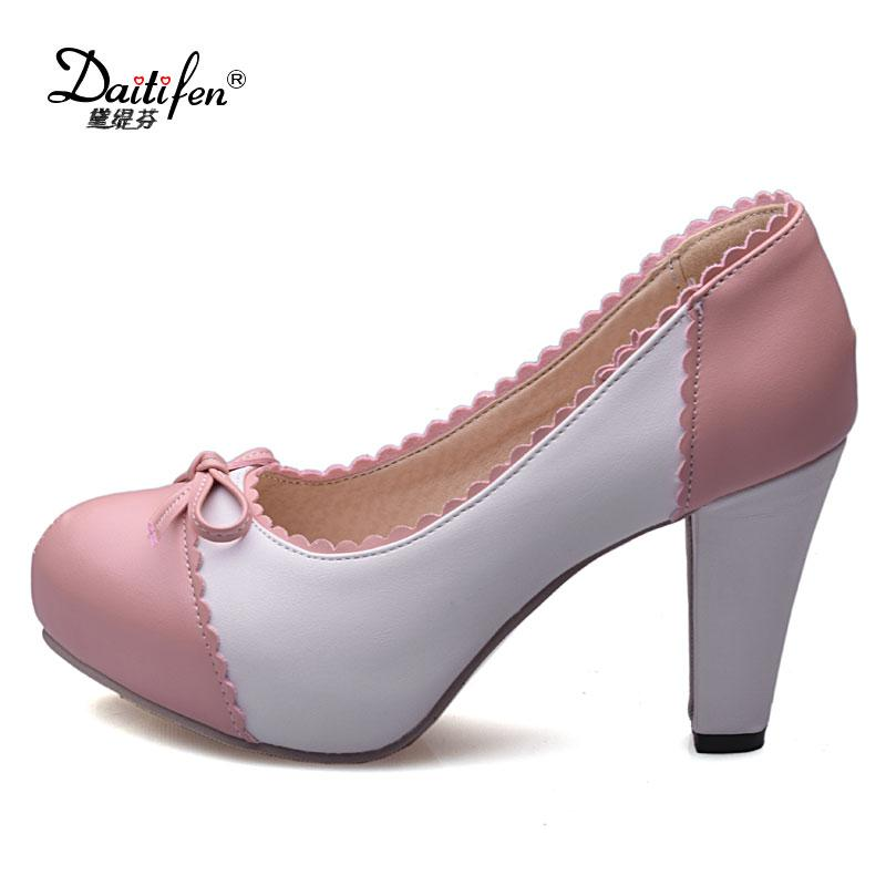 Wholesale Shoes Woman High Heels Mixed Bow-knot Pumps Women Shoes ... 1bd74f5a4bf0