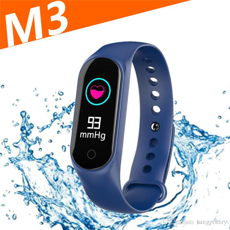 ff24f1ee072 Upgraded M3 Smart Bracelet Fitness Tracker Smart Watch With Heart Rate  Waterproof Bracelet Pedometer Wristband For IOS And Android Cellphone Smart  Watches ...