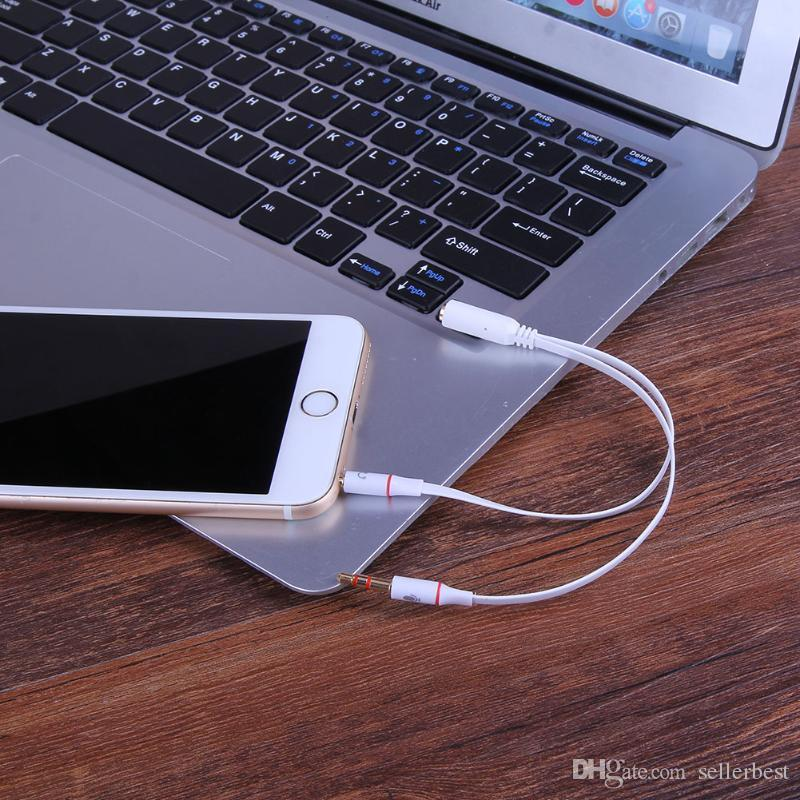 3.5mm 1 a 2 Cable de audio Adaptador de micrófono para auriculares de un solo orificio para Conputer Smartphone con micrófono de alta calidad