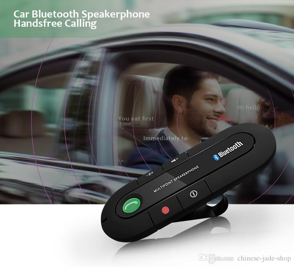 Sun Visor Bluetooth Speaker phone MP3 Music Player Wireless Bluetooth Handsfree Car Kit Bluetooth Receiver Speaker Car Charger BT-980