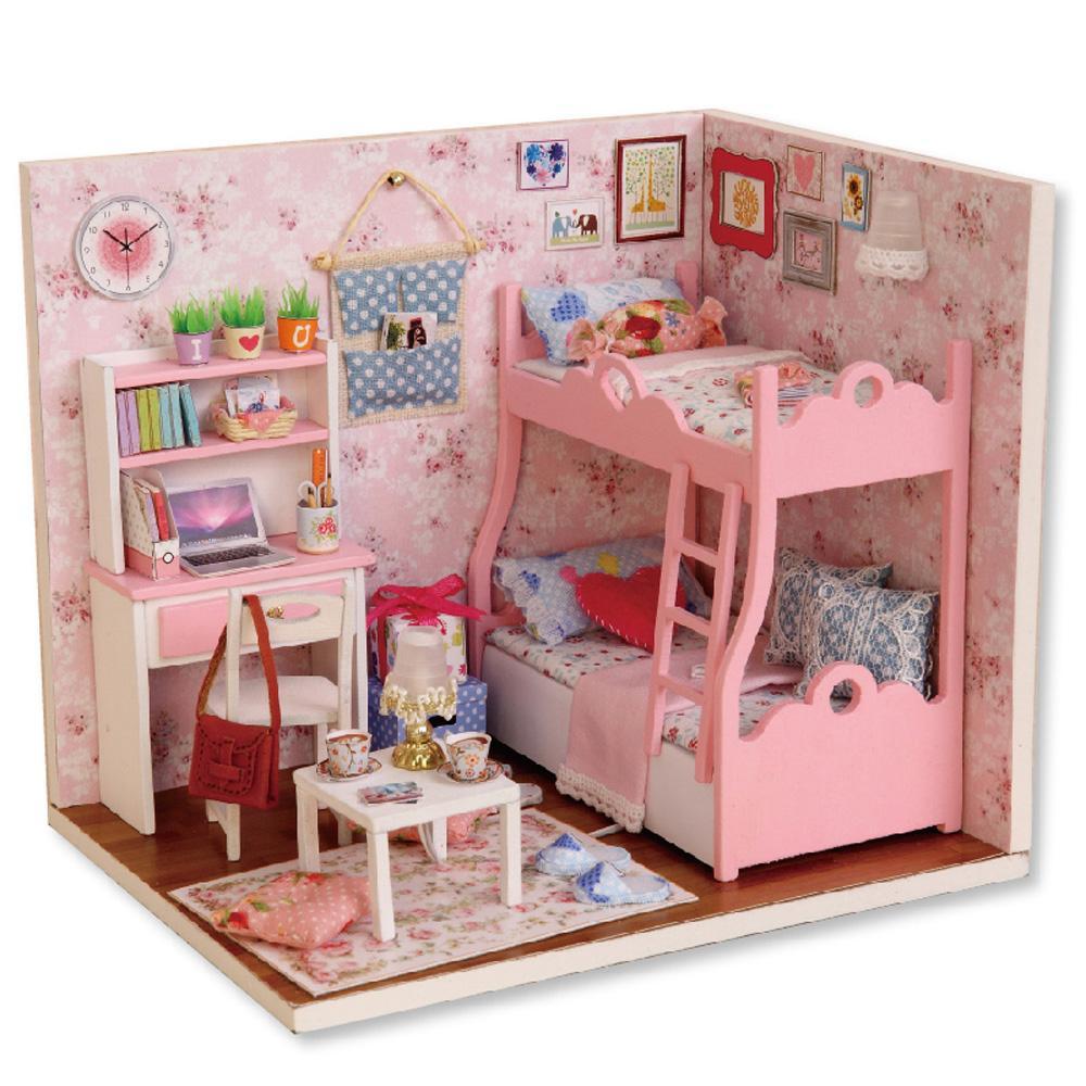 Kupit Optom Diy Handmade Dollhouse Sladkaya Tvorcheskaya Mebel