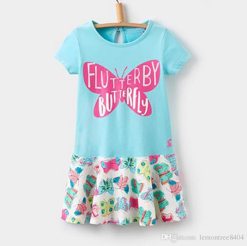 Schmetterlings-Kleid für Mädchen Kurzarm für Sommer schöne Kinder Kleider Weihnachten Kostüme für Kinder Tiere Frühling