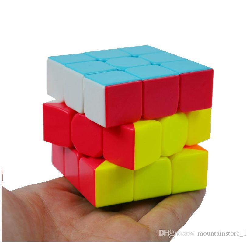 Newly Colorful 3x3x3 Three Layers Magic Cube Profissional Competition Speed Cubo Non Stickers Puzzle Magic Cube Cool Toy Boy
