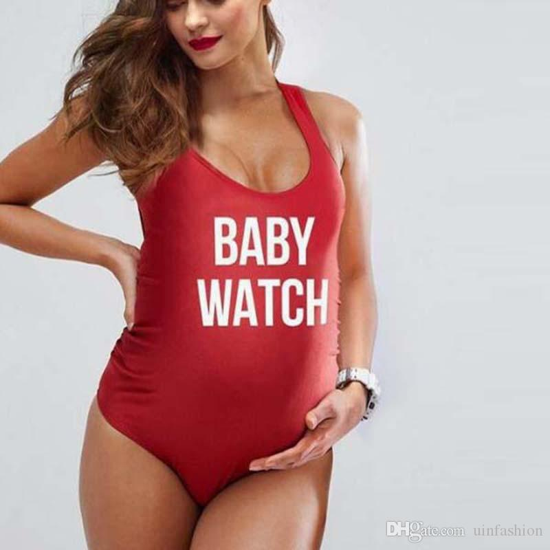 7e9118d0ab86e Women Bikini Maternity Swimwear Plus Size Letter Printing Beach Wear  Pregnancy Sexy One Piece Swimwear For Pregnant Women Canada 2019 From  Uinfashion, ...